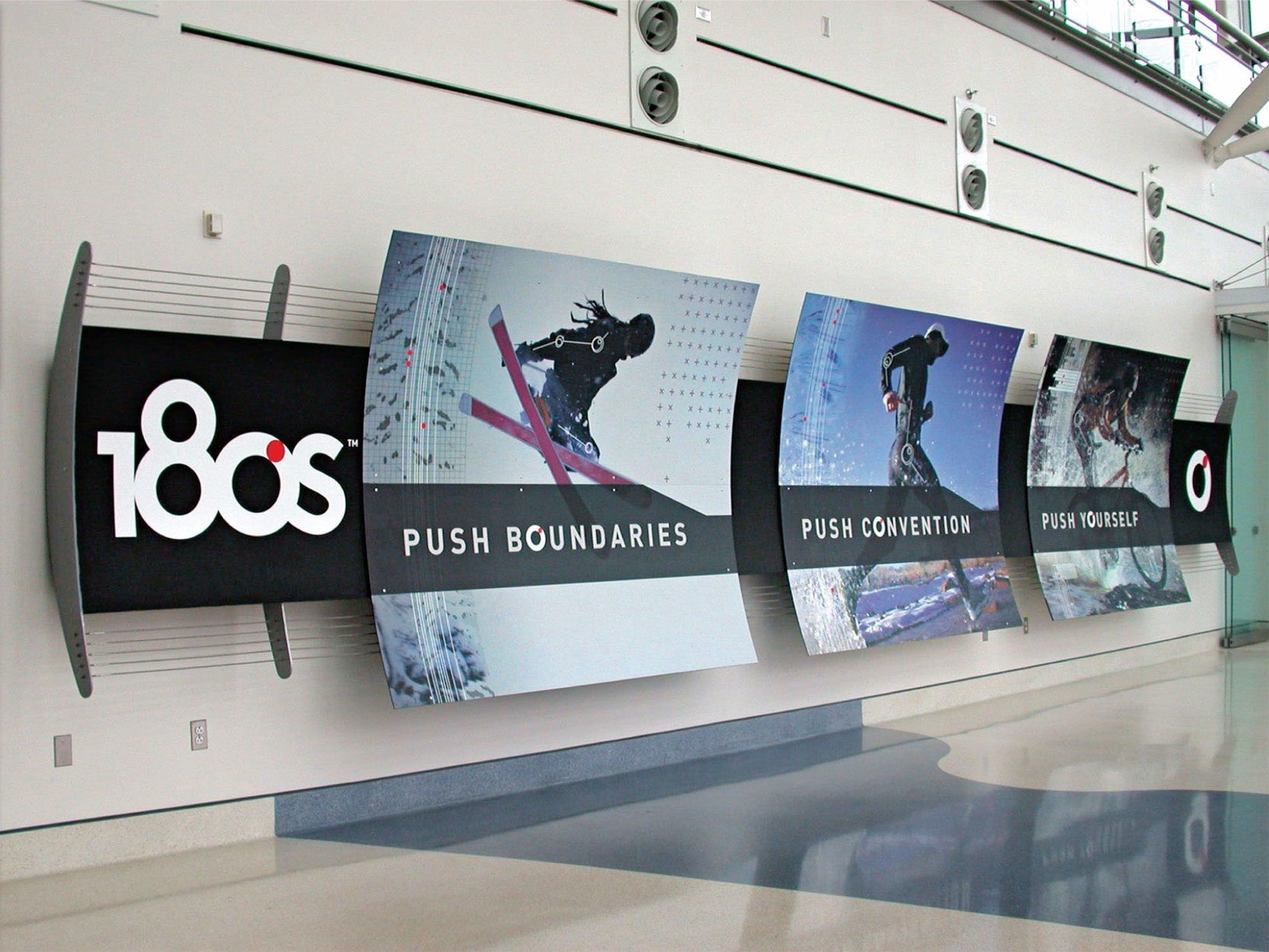 Graphics that enhance signage that works displays that inform.