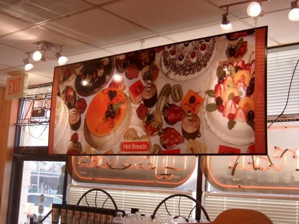 WF002 - Custom Wall Mount Frame for Restaurant
