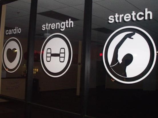 Custom fitness signs for gyms health clubs