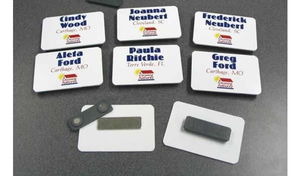 BN004 - Custom Badges & Name Plates for Service & Trade Organizations