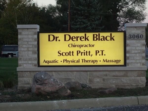 BMS001 - Custom Backlit Monument Sign for Healthcare