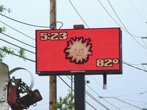 TIME001 - Custom Time and Temp LED Sign