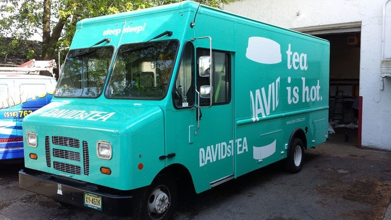 Food Truck Wrap Davids Tea