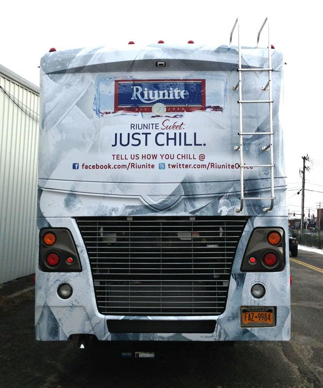 Riunite Bus Wrap Back