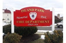 Island Park Fire Department Memorial Park Sign