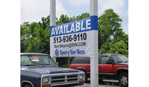 In a tight spot?  Weve got your signage solution!  (Banner system by Signs Now Cincinnati for Sperry Van Ness, Liberty Twp, OH)