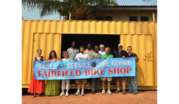 So happy to help with signage for West African Bike Repair Shop Mission creating jobs and fixing bicycles for residents of Accra, Ghana.  (Banner by Signs Now Cincinnati for MASTER Provisions, Florence, KY)