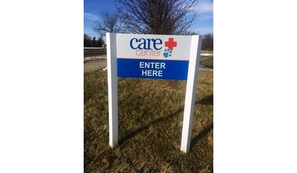 Need to update your graphics?  Well take care of it!  (Digital Prints by Signs Now Cincinnati for Dayton Care Center, Centerville, OH)