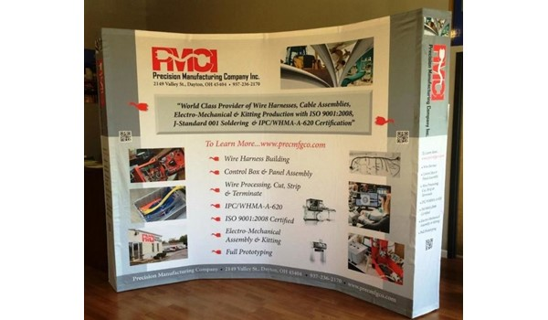 Attract some attention with custom trade show displays!  (Custom trade show display by Signs Now Cincinnati for Precision Manufacturing Company, Dayton, OH)