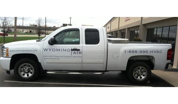 Get the word out... with custom vehicle graphics!  (Vehicle graphics by Signs Now Cincinnati for Wyoming Air, Cincinnati, OH)