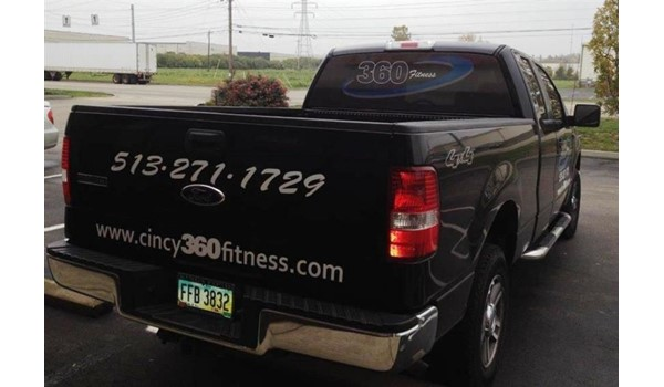 Vehicle graphics... advertising thats healthy for your business!  (Custom Vehicle Graphics by Signs Now Cincinnati for Cincy 360 Fitness, Cincinnati, OH)