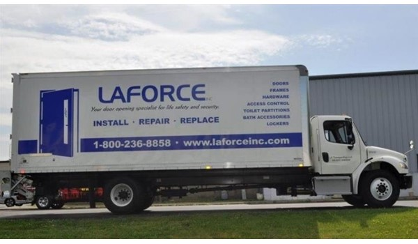 Open the door to a whole new world of marketing with custom vehicle graphics!  (Vehicle graphics by Signs Now Cincinnati for LaForce, Inc., Green Bay, WI, Sharonville, OH)
