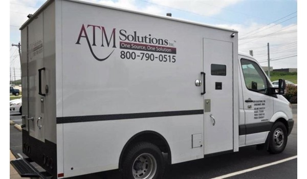 Custom vehicle graphics for fleet vehicles of all shapes and sizes!  (Vehicle graphics by Signs Now Cincinnati for ATM Solutions, Cincinnati, OH)