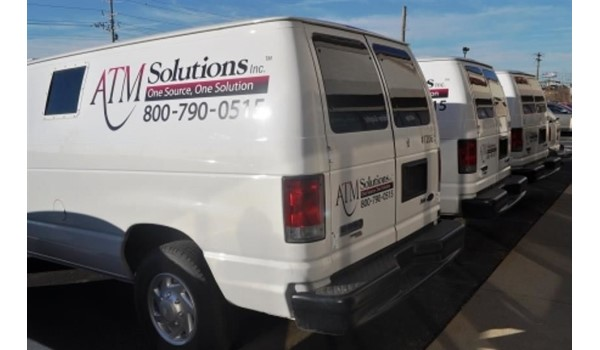 Customize your fleet with digitally printed vehicle graphics!  (Vehicle graphics by Signs Now Cincinnati for ATM Solutions, Cincinnati, OH)