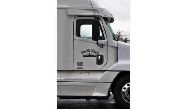 Ready to apply graphics are an ideal solution to many simple jobs.  (Ready to apply graphics by Signs Now Cincinnati for semi-truck, Cincinnati, OH)