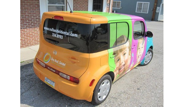 You wont miss this full vehicle wrap if youre driving by it in the Gettsyburg area.