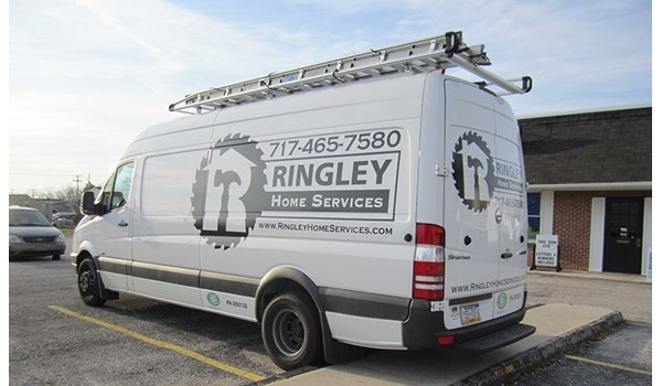 It may be but just black and white but you wont miss the graphics on this van done for Ringley Home Services of Hanover, PA.