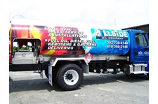The vehicle wrap on this tanker truck is sure to get attention wherever it goes