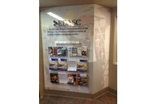 - Custom Displays - Acrylic Brochure Rack with Custom Wallpaper - Economic Development Association of Skagit County - Mount Vernon, WA