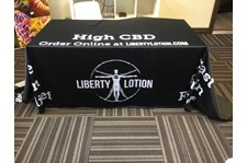 - Tradeshow Display - Table Throw - Liberty Lotion - Burlington, WA