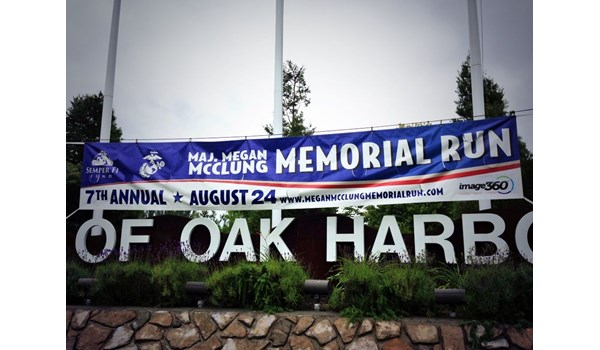 - Custom Banners - Large Area Vinyl Banner - Maj. Megan McClung Memorial Run - Oak Harbor, Wa
