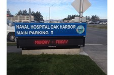 - Illuminated Signage - Lightbox & LED Readerboard - Navy Hospital - Oak Harbor, WA