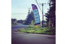 - Custom Banners - Feather Banner - North End Fitness - Oak Harbor, WA