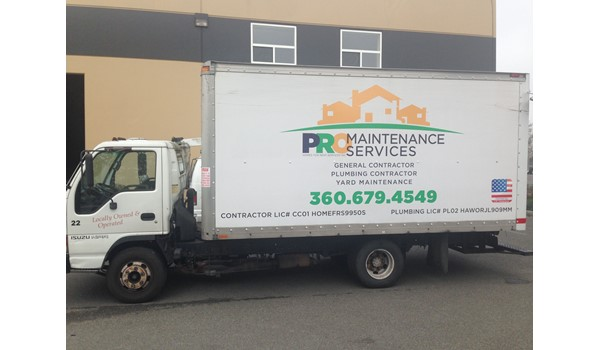 - Vehicle Graphics - Ready-To-Apply Graphics - Pro Maintenance Services - Oak Harbor, Wa
