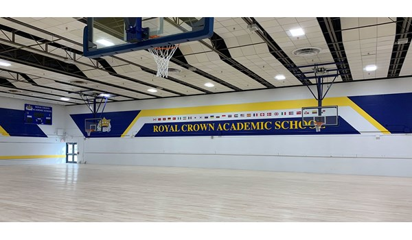 Interior Signage design of Royal Crown Academic School gym