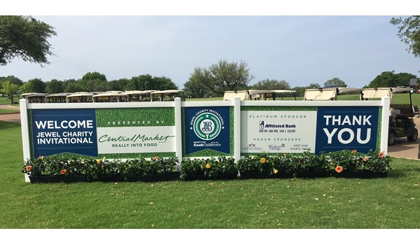 Jewel Charity Golf Tournament Signs