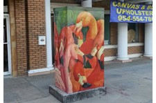 - Image360 - Ft. Lauderdale - Utility Box Wraps - Flamingos