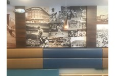 Wall wrap for Brighton Beach Bagels