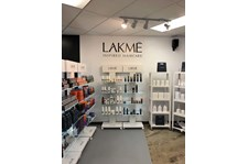 Interior Cut Black Vinyl Lakme Wall Graphic for Modern Salon in Kansas City, Missouri