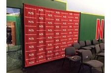 Full Color 8x10 Step and Repeat Backdrop with Hardware for Next Level Sports in Grain Valley, Missouri
