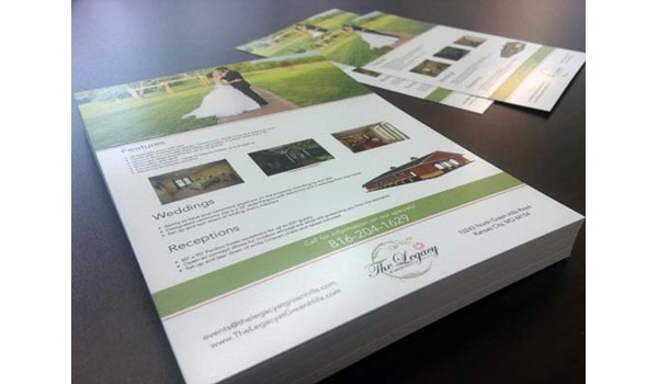 Single Sided Flyers for the Legacy at Green Hills in Kansas City, MO