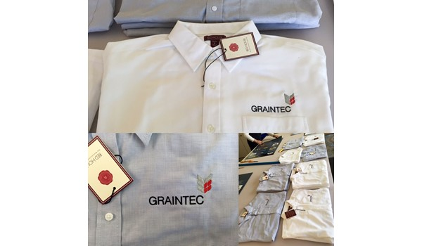 Custom Embroidered Shirts for Graintec in Kansas City, Missouri