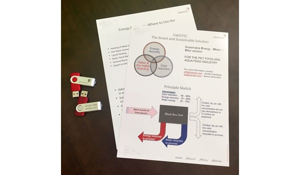 Double-Sided Brochures and Customized USBs for Graintec in Kansas City, KS
