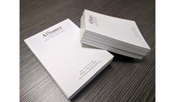 1-Color Custom Notepads for Alliance Home Health Care in Kansas City, Kansas