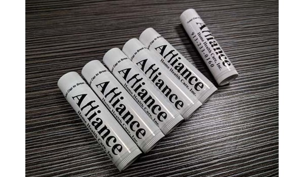 Custom Lip Balm for Events for Alliance Home Health Care in Kansas City, Kansas