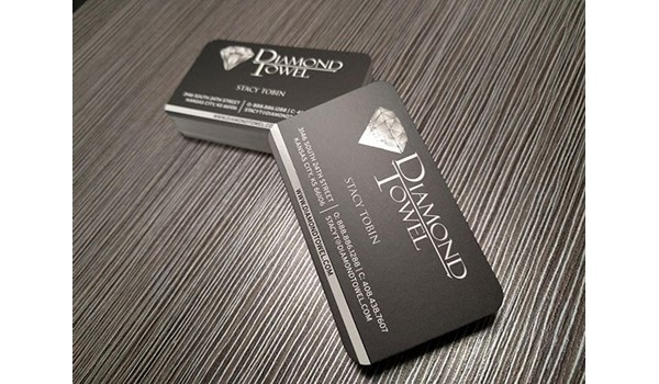 Spot UV Business Cards for Diamond Towel in Kansas City, Kansas