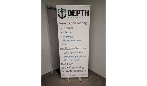 Retractable Banner Stand for Depth Security in Kansas City, Missouri