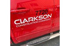 Truck Decal for Clarkson Construction in Kansas City, Missouri