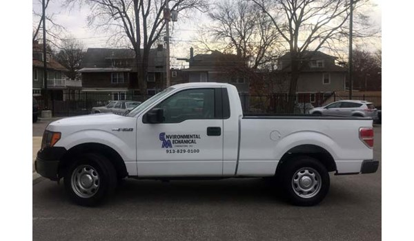 Cut Vinyl Vehicle Decals for Environmental Mechanical Contractors in Olathe, Kansas