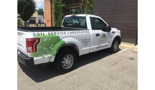 Vehicle Graphics for Soil Service in Kansas City, Missouri