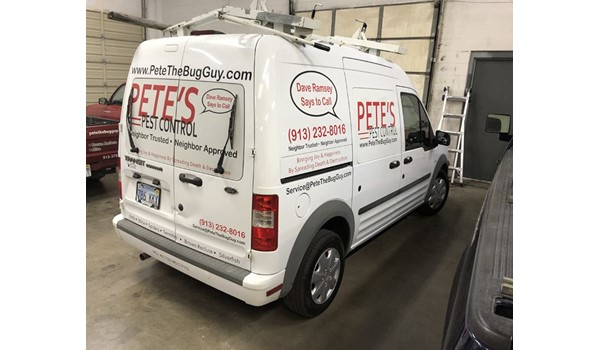 Vehicle Graphics for Petes Pest Control in Lenexa, Kansas