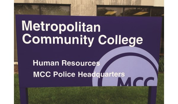 Exterior Aluminum Post and Panel Sign for Metropolitan Community College in Kansas City, MO