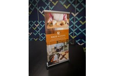 Tabletop Retractable Banner Stand for The HALO Foundation in Kansas City, Missouri