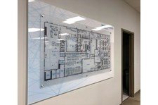 Interior Layered Acrylic Directional Map for Smiths Interconnect in Kansas City, Kansas