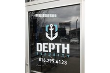 Exterior Cut Vinyl Door Decal for Depth Security in Kansas City, Missouri
