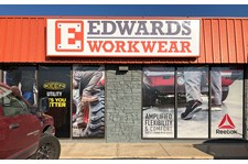 Perforated Window Vinyl for E. Edwards Workwear in Olathe, Kansas